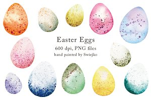 Easter Eggs clipart set