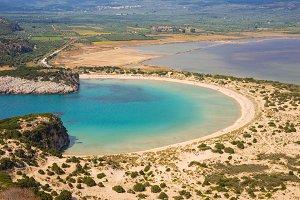 Beautiful lagoon of Voidokilia, Greece
