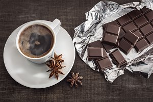 Coffee with anise and chocolate.