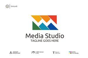 Letter M  Logo - Media Studio