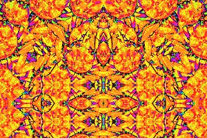 Colorful Vibrant Ornate Mosaic