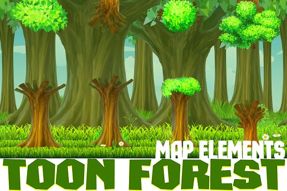 Toon Forest Game Background