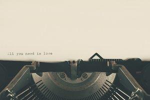 love vintage typewriter printing