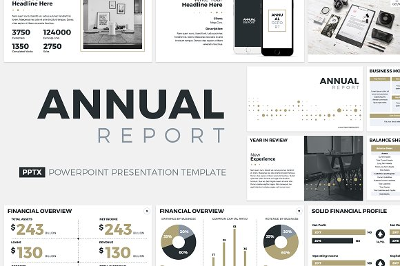 Annual Report Powerpoint Template Presentation Templates