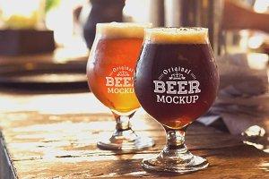 Beer Glass Mock-up#58