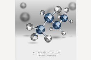 Butane Molecule Background