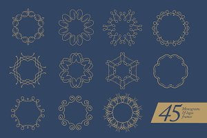 45 monograms/logos frames