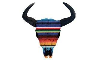 Serape Cow Skull PNG