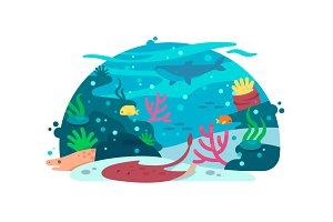 Marine underwater world