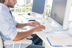 Designer working on the computer