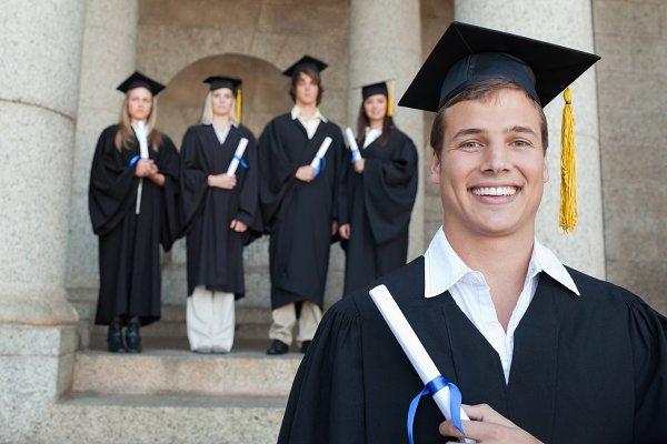 Close up of a happy graduate