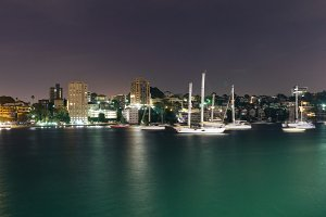Sydney's Bay at night