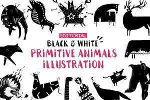 Black & White Animals
