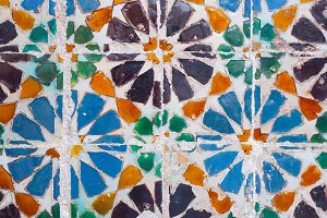 Colorful old tile detail