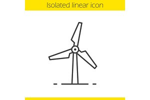 Windmill linear icon