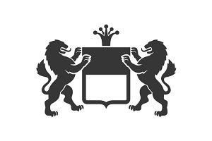 Coat of arms. Heraldic Lions