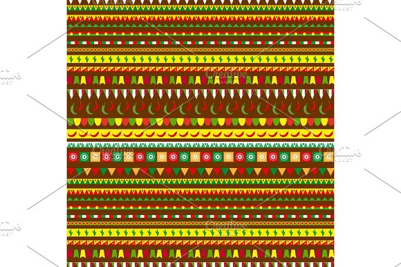 Cinco De Mayo Seamless Pattern With A Traditional Ornament Mexican Ethnic Tribal Endless Background