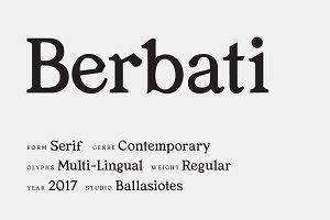 Berbati Regular Serif Font