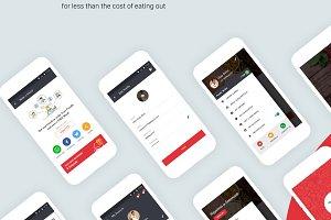 Food Order App UI/UX Set