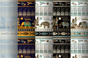 5 Indian Seamless Patterns