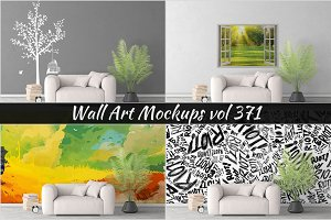 Wall Mockup - Sticker Mockup Vol 371