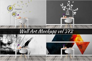 Wall Mockup - Sticker Mockup Vol 372