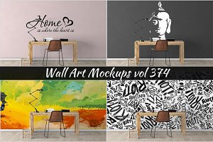 Wall Mockup - Sticker Mockup Vol 374