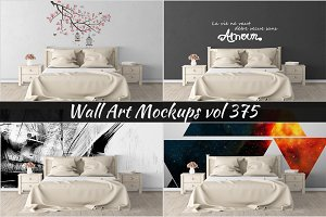 Wall Mockup - Sticker Mockup Vol 375