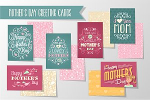 6 Mother's Greeting Cards