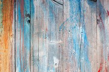 Old painted wooden planks