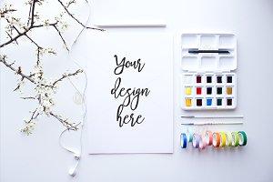 Spring themed Watercolor Desktop