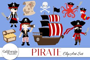 Pirate Clip Art Set
