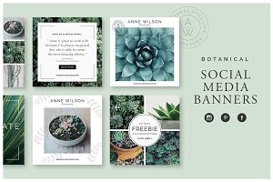 Botanical Social Media Banners