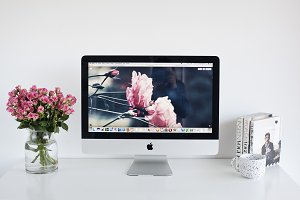 iMac Desktop Stock Photo
