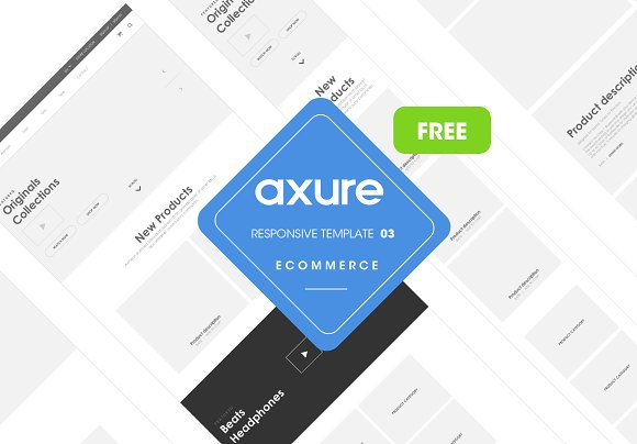 Axure Responsive Ecommerce Template3