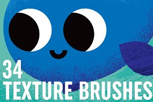 34 Texture Brushes Vector