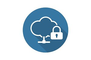Secure Connection Icon. Flat Design.