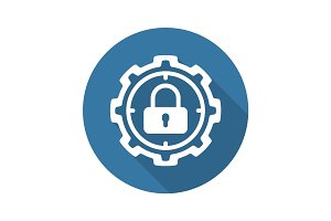 Protection Target Icon. Flat Design.