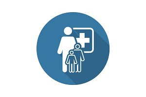 Pediatrics and Medical Services Icon. Flat Design.