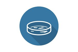 Bacteriology Icon. Flat Design.