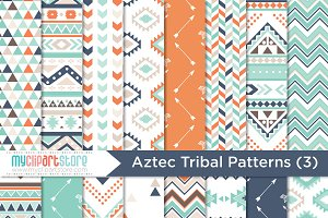 Tribal / Aztec (3) - Digital Pattern