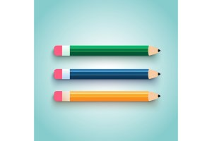Pencil set flat design