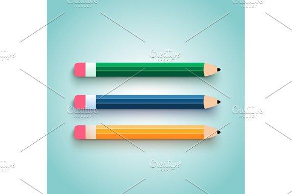 Pencil set flat design