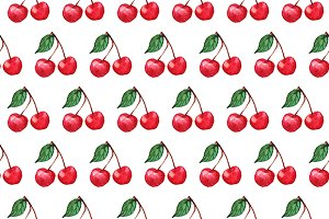 Cherry berry seamless pattern vector