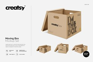 Moving Box Mockup Set