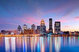 Skyline downtown Louisville