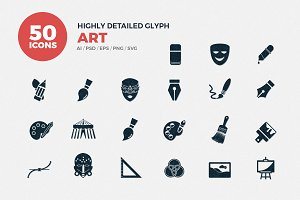 Glyph Icons Art Set