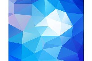 Triangular blue background