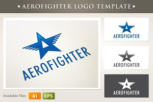 Aero Fighter Logo Template