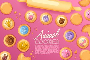 Cute Animal Cookies Set2